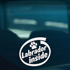 LABRADOR INSIDE Retriever Dog Paw Funny Car, Window, Bumper Vinyl Decal Sticker