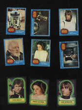 Star Wars Blue Card Set Topps 1977 Complete Plus Complete Sticker Set 1