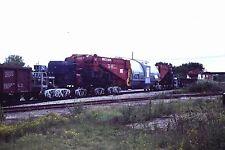 35mm Orig Slide Special Railroad car for Transporting Generators 400 Tons L@@K