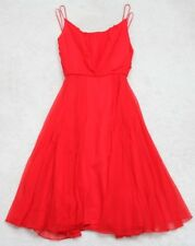Young House Red Spaghetti Strap Formal Coctail Dress Size Nine 9 Nylon Polyester