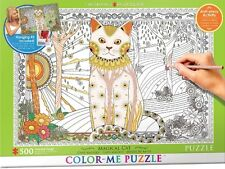 Jigsaw Puzzle Color Me Magical Cat 500 pieces NEW Paint it Yourself StressRelief