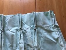 Laura Ashley Curtains Isodore fabric in Duck Egg