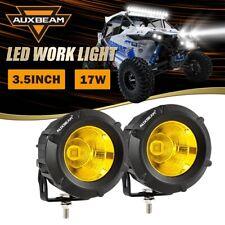 "AUXBEAM EC-FZ-25R Pair 3.5"" Amber 5050 LED Work Driving Lights Offroad ATV UTV"