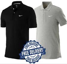 Nike Mens Pique Retro Polo Shirt Classic T Shirt Grey/Black
