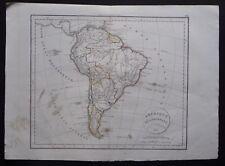 § carte Amérique Méridionale - Félix Delamarche 1829
