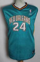 MASHBURN #24 NEW ORLEANS HORNETS NBA BASKETBALL JERSEY SHIRT REEBOK YOUTHS XL