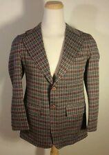 Vintage Retro Atomic Hippie Hipster plaid Sports Coat Jacket Blazer Medium