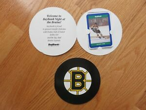 Bay Bank BOBBY ORR No. 4 BOSTON BRUINS Career Statistics Card #2 in Folder
