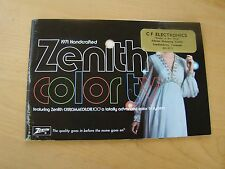 ZENITH COLOR TV 1971 CHROMACOLOR & 2001  B27A74R OPERATING GUIDE