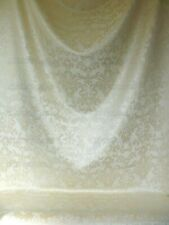 12Y SCALAMANDRE WHITE CHENILLE DAMASK F44C MSRP$150+/Y