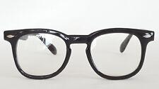 Nerd Brille rund Retro Hornbrille Streberbrille schwarz Damen und Herren 1179