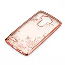 Luxury Diamond Flower Ultra Thin Soft Rubber Clear Back Case Cover For LG G4 G5