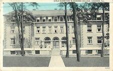 1929 Girls Dormitory, McKendree College, Lebanon, Illinois Postcard