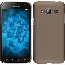 Custodia Rigida Samsung Galaxy J3 - gommata oro + pellicola protettiva