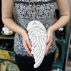 Hand Crafted Wooden Angel Wing 30cm - Wall Hanging Ornament / Table Decoration