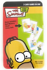 The Simpsons 3 Card Games In One Bad Memory,Cheat,Crazy Eats 2005 Tin NIB