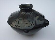 Vintage PATY QUEZADA Mata Ortiz Blackware Pottery Turtle Vase