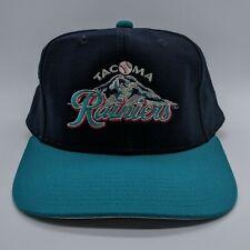 New listing vtg Tacoma Rainiers MiLB Logo Hat Snapback Pro Model Cap Richardson Blue Teal