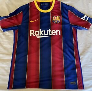 Nike FC Barcelona Authentic Home Soccer Jersey. Adult Size: Small