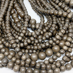 Natural Greywood Graywood Round Beads Various Sizes