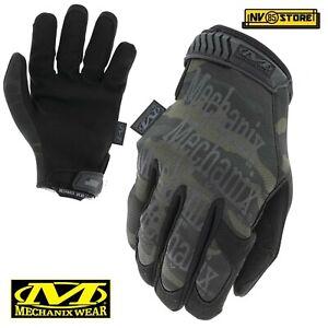 Guanti MECHANIX Original MULTICAM BLACK Tactical Gloves Security Antiscivolo