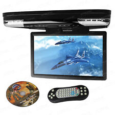 "15.6"" HD In Car DVD Player Roof Mount Monitor Flip Down Video Screen HDMI FM IR"