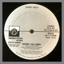 """Rare CASEY KELLY Where You Been ZIGGIE ADDY Touch Me PROMO 12"""" DJ Disco 1977"""
