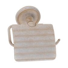 Shabby Chic Toilettenpapierhalter weiß antik Landhaus Stil Messing Qualität NEU