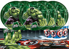 Marvel Avengers Assemble Party Tableware Pack of 16 Birthday Hulk Iron Man Super