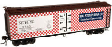 HO Scale 40' Wood Reefer - Ralston-Purina #5585 - Atlas #20002013