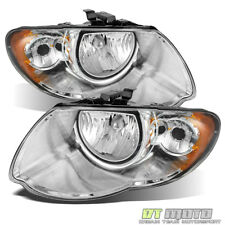 s Headlight Compatible For 2001-2007 Dodge Grand Caravan Chrysler Town and Country Left Driver and Right Passenger Halogen With bulb