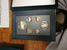 1990 US Mint Prestige Set, 6 coins, Eisenhower Proof Silver Dollar, COA