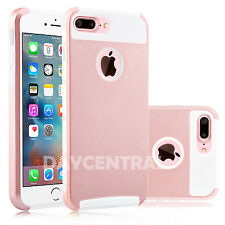 For Apple iPhone X SE 5 6 6s 7 8 Plus Shockproof Dual Layer Hard Soft Case Cover