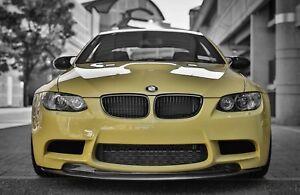 Carbon Fiber GTS Style Front Bumper Splitter Lip Spoiler for BMW M3 E92 E93 E90