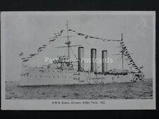 Military Naval H.M.S. ESSEX Cruiser 9800 Tons Old Postcard by Gale & Polden 153
