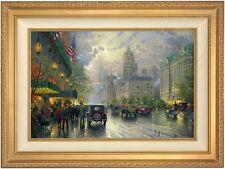 Thomas Kinkade New York 5th Avenue 18 x 27 Le A/P Canvas(Gold Frame)