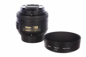 Nikon 35mm f1.8 AF-S DX G lens, with hood and box, superb condition, 6 month ...
