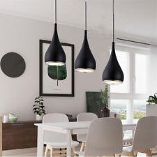 3X Black Pendant Light Modern Ceiling Lamp Kitchen Chandelier Lighting Bar Light