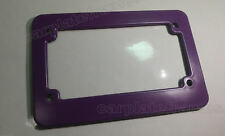 PURPLE MOTORCYCLE scooter blank plastic License Plate Frame