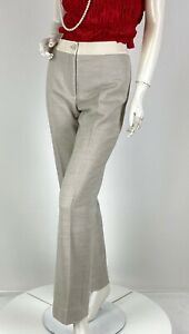 Akris Black Label New 6 US 42 IT M Cotton Wool Dress Pants Runway Auth Ret $895