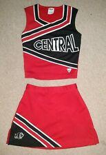 Real Central High School Varsity Cheer Red White Black Cheerleading Uniform