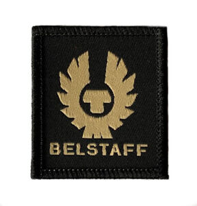 Belstaff Logo Patch (45mm) High Quality Woven Iron/Sew-on Badge Biker Hat Jacket