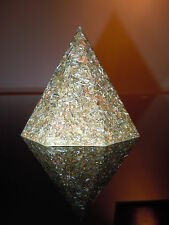 Orgone Spiritual Octogonal 23k Pyramid Protection Ornament Turquoise Tigers Eye
