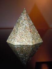 Geo Orgone Octogonal Pyramid 23k Gold Silver Copper Brass Shungite Lemurian Opal
