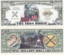 Two Iron Horse Steam Locomotive Train Novelty Bills #043