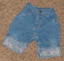 Gap 6-12 Mo Blue Denim Pants w Flower Hem Cs