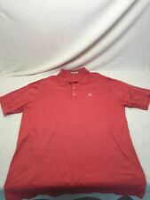 Peter Millar Mens Size XL Pink Solid 100% Cotton Short Sleeve Polo Shirt