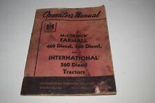 Mccormick Farmall 460 560 Diesel International 560 Diesel Tractor Operate Manual