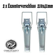 2x Exzenterverschluss 210x41mm, Anhänger,Bordwandbefestigung
