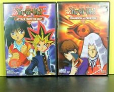 Lot of 2 YU-GI-OH!  ATTACK FROM THE DEEP #3  & CHAMPION VS CREATOR #9(  DVD